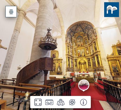 Captura vista 360 de la iglesia